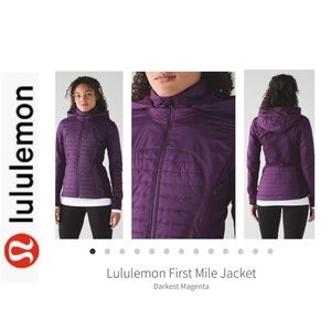 Lululemon First Mile Jacket. Dk Purple. Sz 8